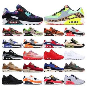 air max 90  2019 New arrivel 90 chaussures de running pour hommes, femmes, rose laser, triple blanc, noir, infrarouge, ESSENTIAL Bred, baskets de sport, taille 36-45