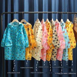 e0xF3 Miki engrenagem casaco e alunos meninas meninos schoolbag poncho bebê Chuva artes das crianças do jardim de infância das crianças Schoolbag lugar chuva