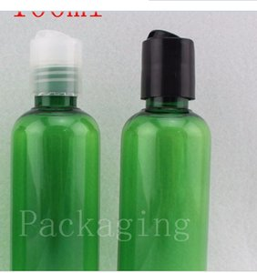 100ml X 50 green shampoo lotion plastic bottles, empty liquid soap travel bottles cosmetic packaging 100g