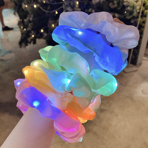 Yeni LED Kızlar Scrunchies Kızlar Hairbands Çocuklar Kafa Bantları Saç Kravatlar Tasarımcı Saç Aksesuarları Çocuk Hairband Çocuk Baş Bantları Için B2375
