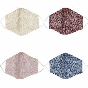 Coton Dentelle Mascarilla Couleur Mode poussière Masques visage fumée réutilisable protection respiratoire lavable à vélo Lady Kids 4 5xmc C2