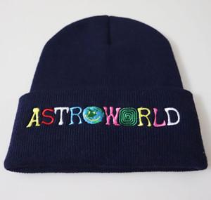 2020 Winter Letter True Color Casual Beanies Men Women Fashion Knitted Winter Hat Solid Hip-hop Skullies Hat Bonnet Unisex Cap Astroworld