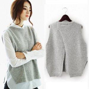 Tailor Sheep Weste-Jacke Frauen Pullover lose O-Ansatz Pullover Big Yards Wolle Weste weiblich Sicherungs