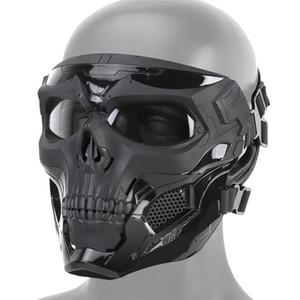 Cadılar Bayramı İskelet Airsoft Maskesi Tam Yüz Kafatası Cosplay Masquerade Partisi Paintball Ordu Personeli Oyun Yüzü Koruyucu Mas Y200103 Maske