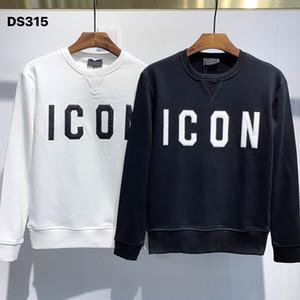 """حار بيع ICON كلاسيك """"المصممين"""" الرجال هوديس D315 خريف وشتاء باريس أزياء المصمم الكماليات عارضة طباعة الهيب هوب وبلوزات 'D2 BB"""