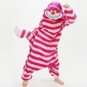 Розового Cheshire Cat Winter Пижама Animal One Piece Unisex Pajama Onesies Cute Cat pijama Пижама WarmSoft onsie Y200425 0nFH #