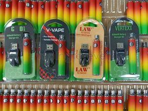 Vertex vorheizen Batteriegesetz V-VAPE Blister 650mAh Vorglühen Variable Spannung LO VV 510 Gewinde Bunte Batterien für dickes Öl Cartridges