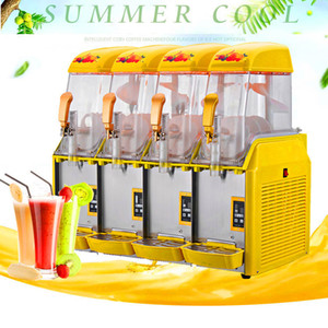 Hot selling commercial four cylinder ice and snow melting machine low price slush machine 220V 110V summer cold drink machine