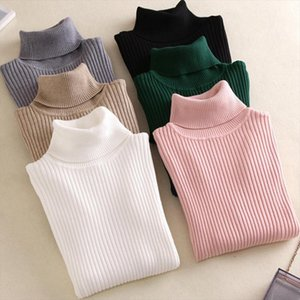 New Winter Women Knitted Sweater Turtleneck Casual Soft polo neck Fashion Slim Elasticity Pullovers Drop Shipping Good Quality