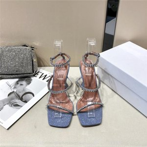 2020 The summer classic crystal high heel sandal,Versatile and comfortable leather upper with high-heeled sandals With box size 35-40