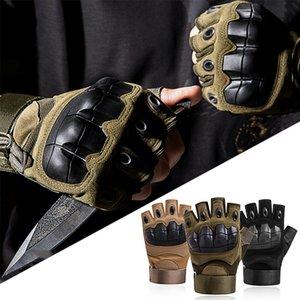 HQ Tactical Mikrofaser Handschuhe Herren Frühling und Herbst im Freien überleben Radfahren zu Fuß harten Knöchel-halben Finger-Schutzhandschuhen FREE
