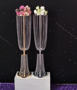 2pcs 31.4'' tall acrylic crystal wedding road lead wedding centerpiece event wedding decoration event party decoration for table T200827