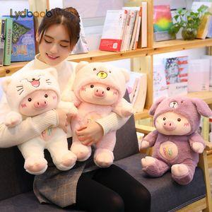 30 / 60см Kawaii Pig Stuffe плюшевые куклы косплей CatBearDog Детские игрушки Мягкие животных Pig Подушка Дети именинницы Рождественский подарок MX200716