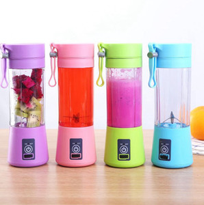 1300MA Electric Juicer Cup Mini Portable USB Rechargeable Juice Blender And Mixer 2 4 6 leaf plastic Juice Making Cup LJJK2335-1