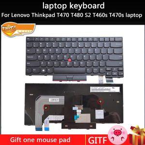 Lenovo Thinkpad T470 T480 S2 T460s T470s laptop İçin Yeni dizüstü klavye İngilizce clavier tuşları Değiştirme