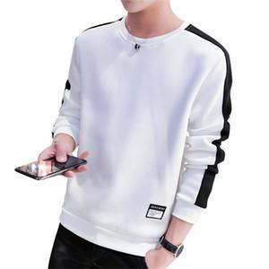 Lockere Herren Designer Hoodies Causal Pacthwork O-Ausschnitt Langarm Tops Kleidung Bequeme Art und Weise plus Größe Männer Sweatshirts