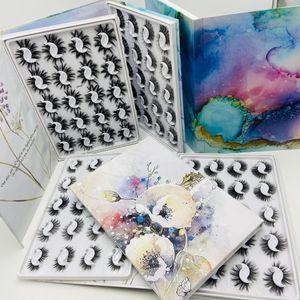 Natural Thick Mink False Eyelashes 20 Pairs Set with Beautiful Packing Reusable Handmade Fake Lashes Soft & Vivid Eye Lashes DHL Free