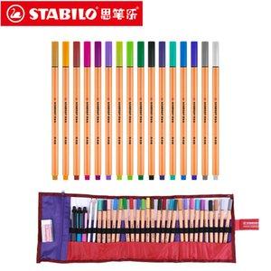 Stabilo Noktası 88 Sanat Markers 0.4mm Fiber Kalem 25 Renkler İğne İpucu Fineliner Manga Tasarım Çizimi, Çizim Y200709