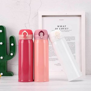Vacuum Cup Bounce cover Insulated Double Wall 304 Stainless Steel Mugs Drinkware 6 Colors can pick