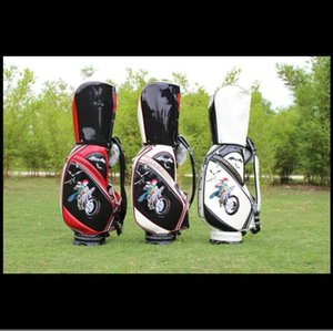The embroidery BAT golf cart bag CAR golf club bag light pu leather unisex golf ball bag sports environmental protection