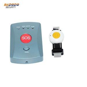 Yaşlı bakımı alarm panik düğmesi ile GSM SMS hırsız alarm sistemleri tek anahtarın sos çağrısı