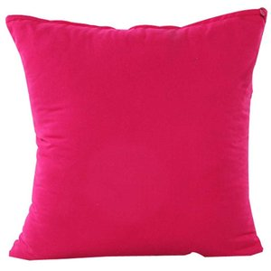 1PCS Candy Color Pillow Case Solid Color Simple Polyester Throw Pillow Case Square Decorative Pillowcases Cover 45x45cm For Home
