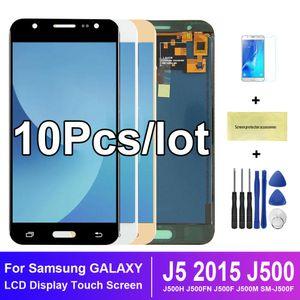 10 Ad / SAMSUNG GALAXY J5 2015 J500 J500F SM-J500F LCD Ekran Dokunmatik Ekran Sayısallaştırıcı Meclisi Yedek İçin lot
