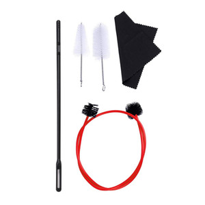 5 Pcs Trumpet Cornet Maintenance Cleaning Kit, Snake Brush with Cleaning Rod and Cloth for Trumpet Cleaning Tools Kit