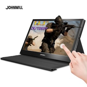 "Melhor monitor portátil de 13,3"" Laptop Tela LCD Monitor PC 2K Gaming toque portátil para Xbox interruptor PC Raspberry Pi"