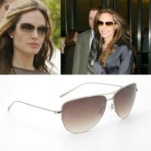 Sunglasses Pure Titanium Pilot Sunglasses men Super light 12g Unisex Brand Strummer Sunglasses women with Gradient Lense OV1004S