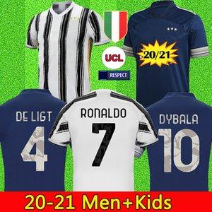 20 21 RONALDO JUVENTUS Futbol Forma 2020 JUVE 2021 Ev uzakta dördüncü DE ligt DYBALA HIGUAIN 4 SARAYI Futbol Gömlek Erkek Çocuk kiti üniformalar