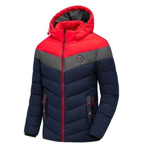 Fashion Men 2020 Winter Designers New Casual Warm Thick Jacket Parkas Coat Men New Autumn Outwear Windproof Hat Parkas Jacket Mens Clothing