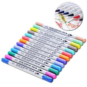 12 배 더블 마커 예술 공급 스케치 드로잉 펜에 대한 연구 Y200709 회화 코픽 세트를 표시 마커 펜 12PCS 회화