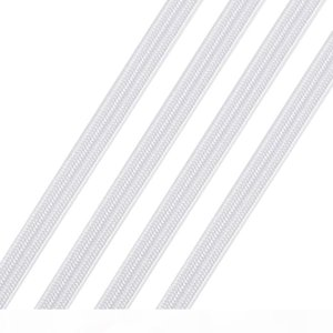 1roll Flat Elastic Cord Stretch Rope Sewing Thread White Black 4 5 6 8 10 12 14mm Handmade Multiple Function