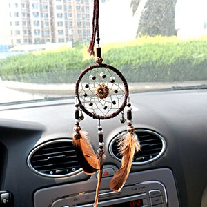 Fashion Car Pendant Feather Dream Catcher Decoration Automobile Rear View Mirror Dreamcatcher Handicraft Hanging Ornaments Decor