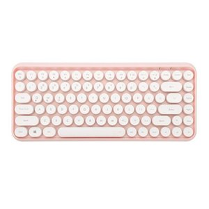 Wireless Bluetooth Keyboard Round Key Cap Gaming Keypad with 84 Keys for smartphone tablet pc computer