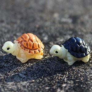 2PCS Mini Turtle Tortoise Miniature Fairy Garden Decoration DIY Doll House Terrarium Micro Landscape Decoration