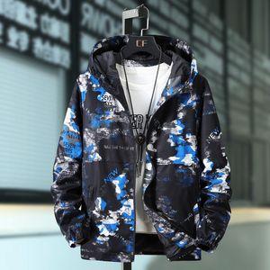 Men's Jackets Plus Size 10XL 9XL 8XL 7XL Men Bomber Jacket Thin Slim Long Sleeve Camouflage Hooded Windbreaker Outwear Army