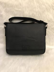 Hombres cartera del hombro Negro Marrón Bolso de piel de los hombres de negocios portátil bolsa de mensajero del bolso 3Color 53361