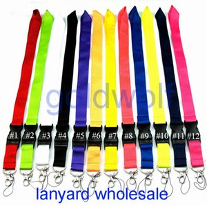 marca CellPhone Lanyard Alças Vestuário-chaves Lanyards Telefone Chaves MP3 Camera ID Badge Holder destacável Buckle