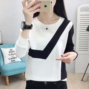 Vogue Patchwork Pullover Sweatshirt Long Sleeve Sudadera Mujer 2020 New Autumn Winter Big Size Clothes Hoodies Women
