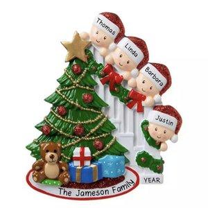 Venta caliente niños de árboles de Navidad, regalos, regalos de Navidad nuevo nombre bendiciones bricolaje cara máscara de resina hombre de nieve con la familia máscara