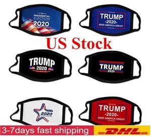 STOCK! حزب ترامب الولايات المتحدة قناع 2020 الانتخابات جميع ركابها أقنعة مصمم ترامب قطار في الهواء الطلق ركوب الدراجات مكافحة الغبار تلوث الغلاف الفم