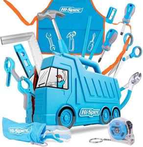 Herramientas Hi-Spec Mi Primer Juego de herramientas real niños de los niños del sistema de herramienta tamaño pequeño bricolaje mano del regalo juguete para las niñas