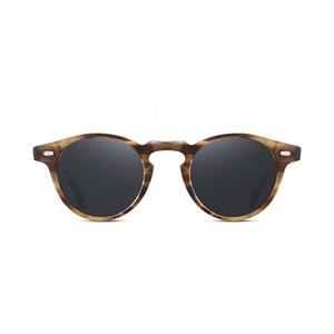 Vintage Polarize Lens OV5186 Gregory Peck Temizle Çerçeve Marka Tasarımcı erkekler kadınlar güneş gözlüğü Retro gafas oculos Y78O