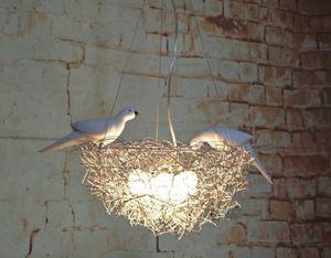 Творческая птичье гнездо люстра привело проволока алюминиевая птица птица яйцо люстра Нордик искусства детская комната ресторан исследование светодиодных ламп