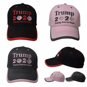 Trump 2020 бейсболка Keep America Великого Письмо вышивка Donald Trump Lip Flag Девушка Солнцезащитный Бейсболка Партия Шляпа Supplies RRA3400