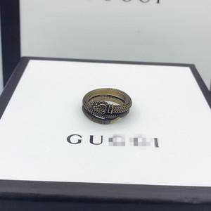 Anillos Personalidad gg anillo de las mujeres de la vendimia de la serpiente de los hombres de color de oro del partido de Hiphop del ojo verde punk estilo fresco Gucci Jewelry Fashion Girl regalo