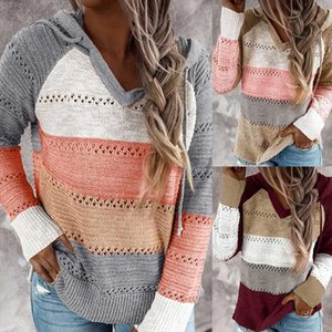 Patchwork Color women Knitwear Pullovers Winter Fashion Long Sleeve O neck Casual Loose Sweaters Drop Shipping Good Quality