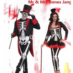 festival fantasma jG468 In9vG Halloween Cosplay vestir-se estágio roupas bola roupas de festa costum desempenho do jogo de terror traje do estágio esqueleto